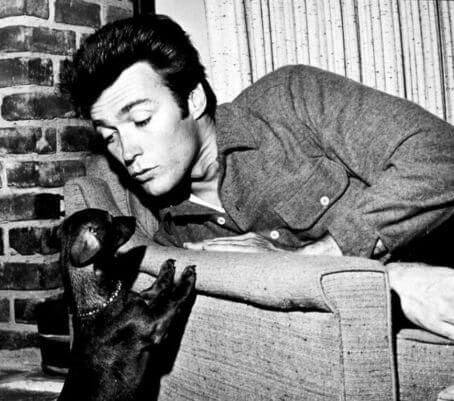 Clint Eastwood and dachshund