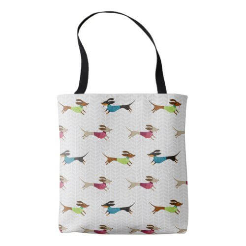 dachshund gifts and tote bags