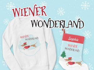 New dachshund Christmas theme now available ~ Wiener Wonderland