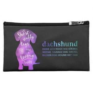 Dachshund – Short Stubby Legs and a Long Body Makeup Bag