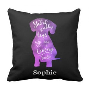 Personalized – Short Stubby Legs and a Long Body Throw Pillow